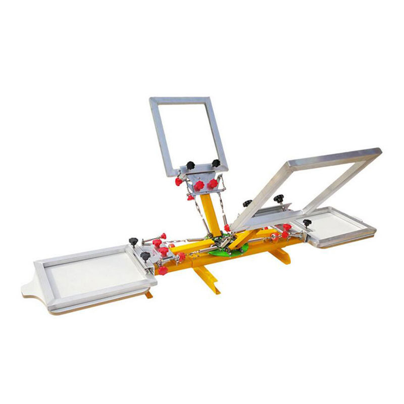 4 color 2 station micro registration screen printing machine