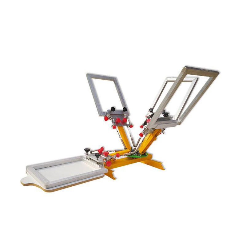 4 color 1 station micro registration screen printing machine